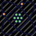 atom, chemistry, nucleus, physics, science icon