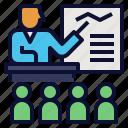 course, lessons, presentation, skill, teaching, training icon