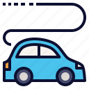 car, driving, electric, self, transportation, vehicle icon