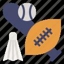 baseball, batminton, football, game, rugby, sports