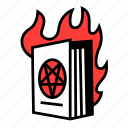 book, fire, genre, isoteric, literary, literature, navigation icon