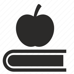 apple, book, fruit, idea, literature, new icon