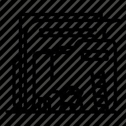 construction, folder, paper, stroke icon