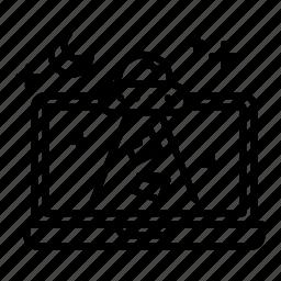 folder, moon, night, space, stroke, ufo icon