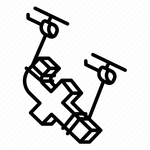 design, facebook, helicopter, stroke icon