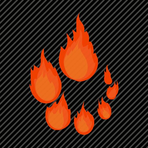 cartoon, circle, element, fire, progress, round, web icon