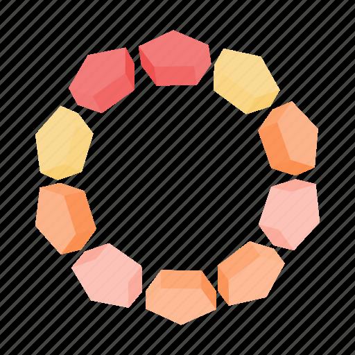 cartoon, circle, element, progress, round, stone, web icon