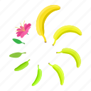 banana, cartoon, circle, element, progress, round, web icon