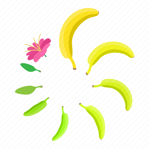 banana, cartoon, circle, element, progress, round, web icon
