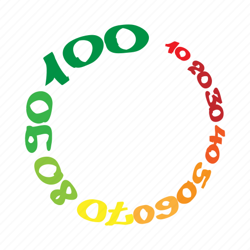 cartoon, circle, element, figure, progress, round, web icon