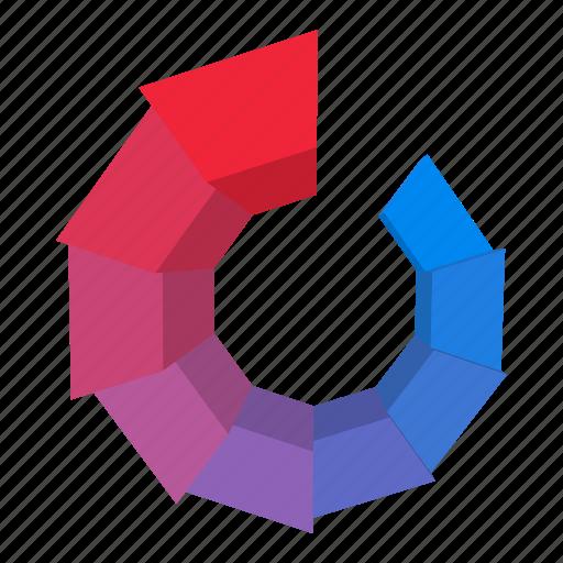 cartoon, circle, element, pink, progress, round, web icon