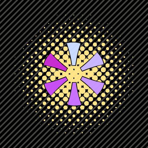 circle, comics, interface, load, progress, round, violet icon