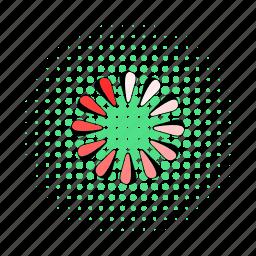 circle, comics, download, interface, load, progress, round icon
