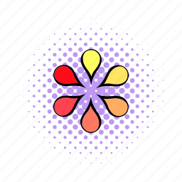 circle, comics, interface, load, petal, progress, round icon