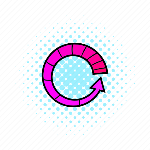 circle, comics, load, pink, progress, refresh, round icon