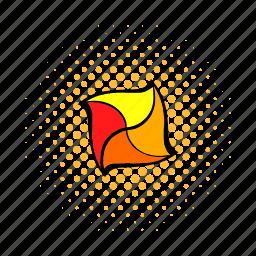 comics, cube, geometric, load, rotated, square, technology icon