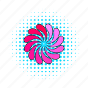 circle, comics, load, petal, pink, progress, round icon