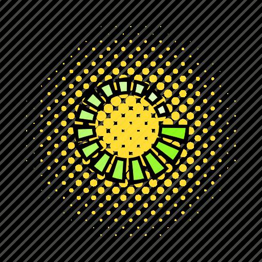 circle, comics, figures, load, progress, refresh, round icon