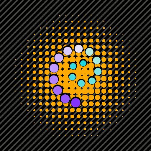 circle, comics, interface, load, progress, refresh, round icon