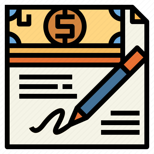 business, contract, finance, sign icon