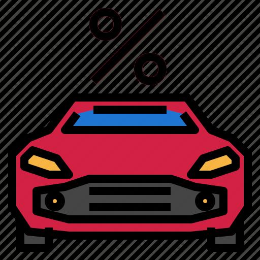 auto, car, percent, sport icon