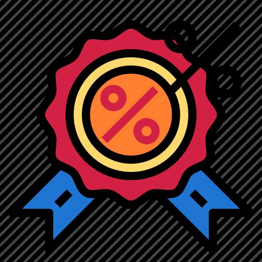 award, medal, percent icon