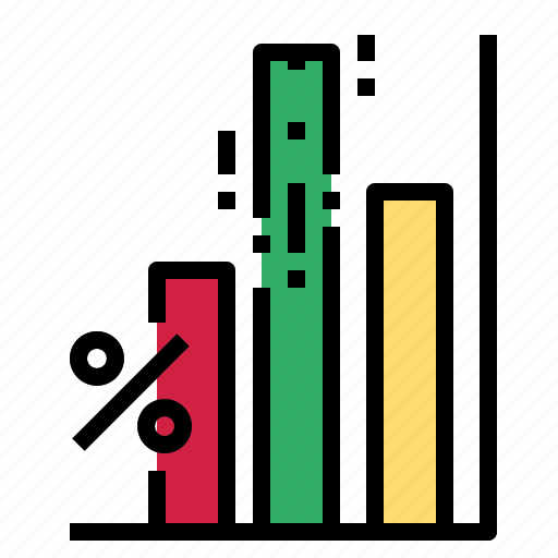 chart, growth, percent icon