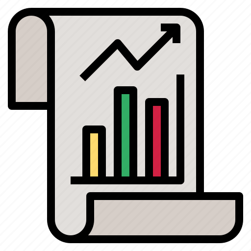 chart, growth, paper, stats icon