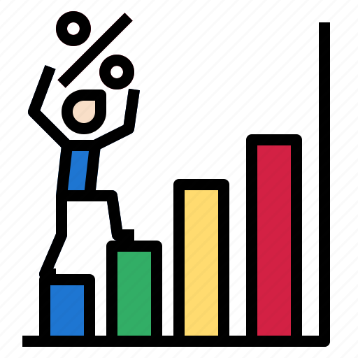 chart, graph, growth, percent icon