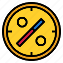 clock, percent icon