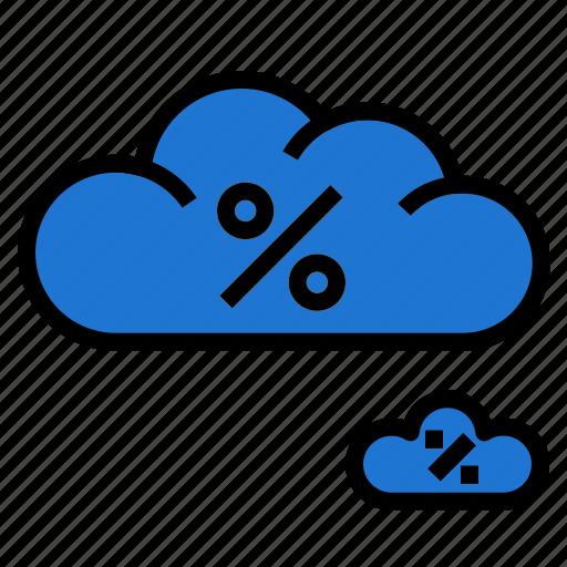 cloud, percent icon