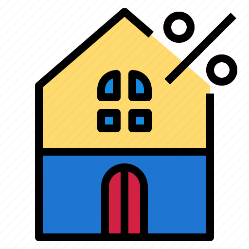 Home, percent, house icon