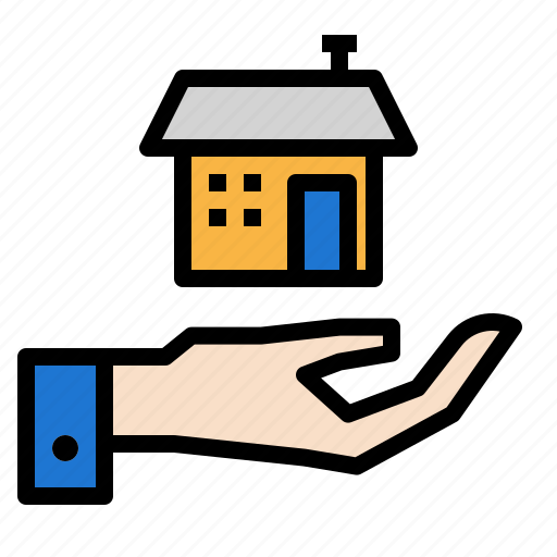 hand, home, house, percent icon