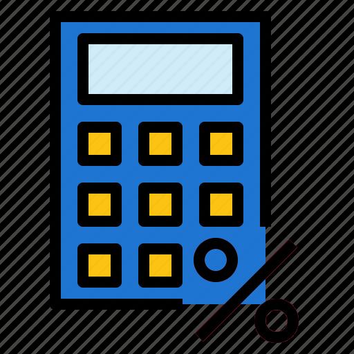 calculator, percent icon