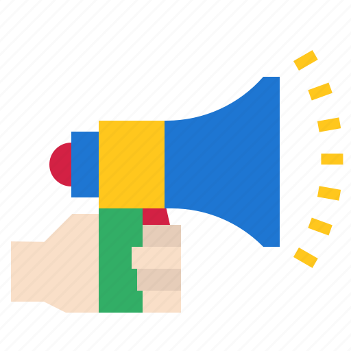 advertising, marketing, megaphone, percent icon