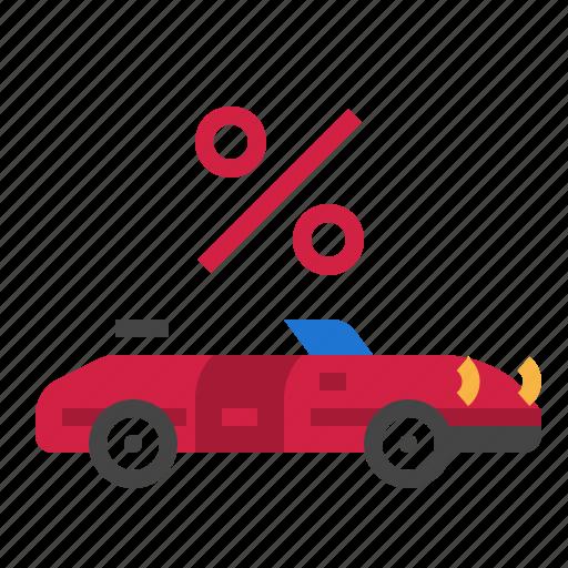 car, percent icon