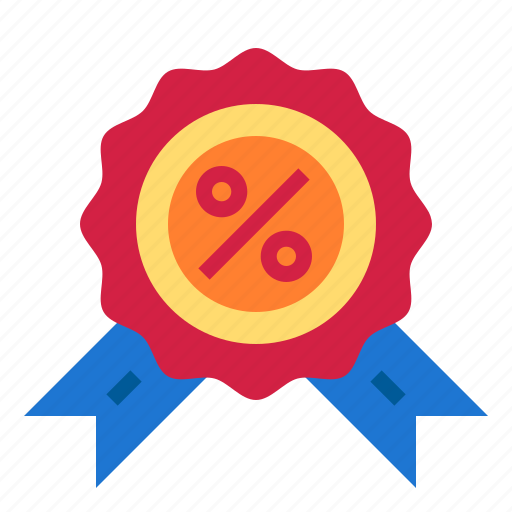 award, medal, percent icon