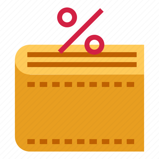 percent, wallet icon