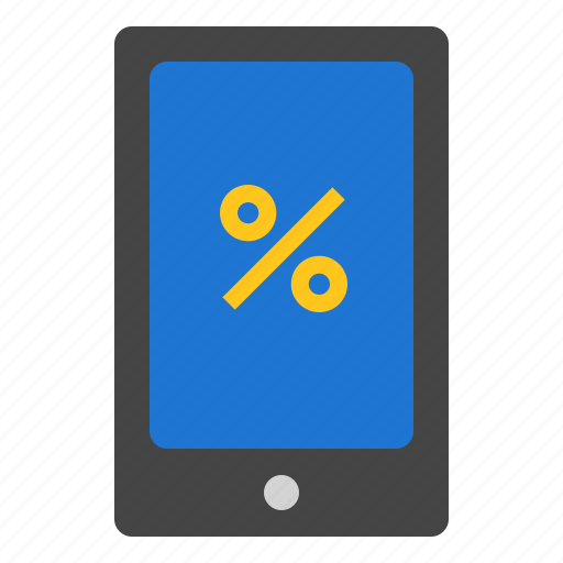 mobile, percent, smart phone icon