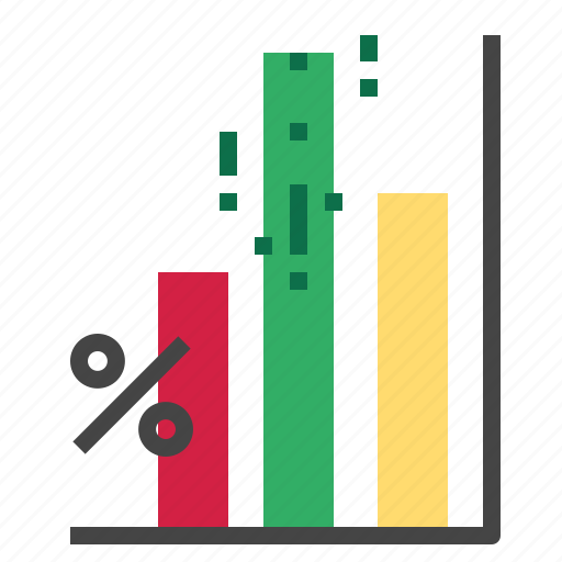 chart, growth, percent, stats icon