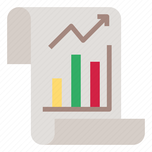 chart, graph, growth, paper icon
