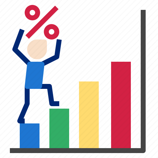graph, growth, percent, stats icon