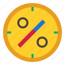 clock, date, percent icon