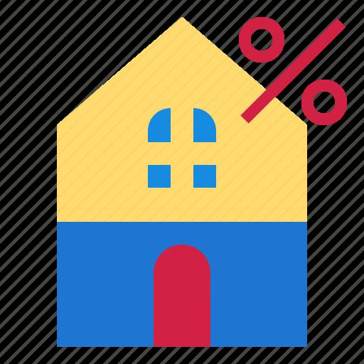 house, percent icon