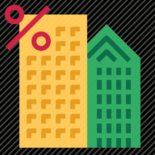 building, percent icon