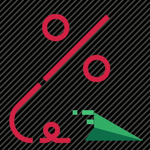 paper, percent, plane icon