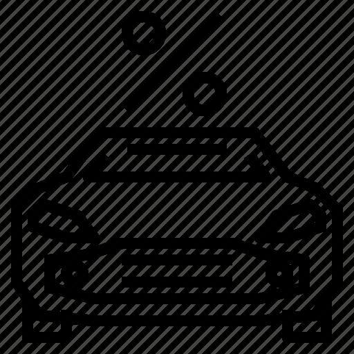 car, percent, sport icon