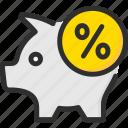 bank, credit, debt, loan, percentage, pig, piggy