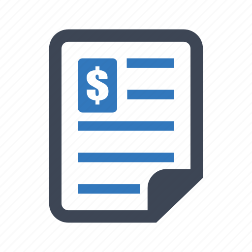 document, finance, tax icon