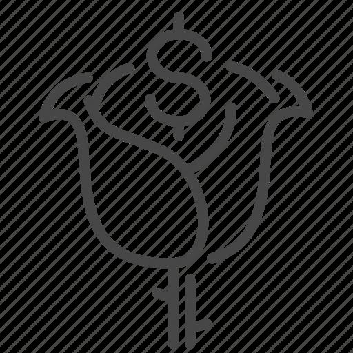 expense, grow, interest, loan, money icon